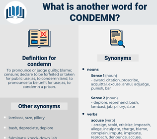 condemn, synonym condemn, another word for condemn, words like condemn, thesaurus condemn
