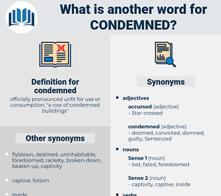 condemned, synonym condemned, another word for condemned, words like condemned, thesaurus condemned
