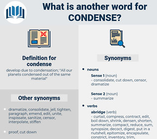 condense, synonym condense, another word for condense, words like condense, thesaurus condense