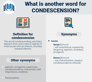 condescension, synonym condescension, another word for condescension, words like condescension, thesaurus condescension