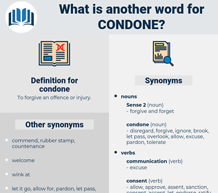 condone, synonym condone, another word for condone, words like condone, thesaurus condone