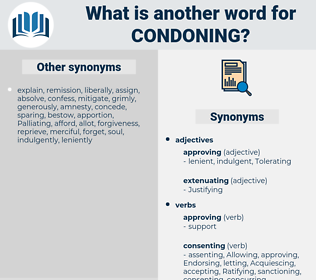Condoning, synonym Condoning, another word for Condoning, words like Condoning, thesaurus Condoning