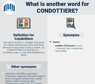 Condottiere, synonym Condottiere, another word for Condottiere, words like Condottiere, thesaurus Condottiere