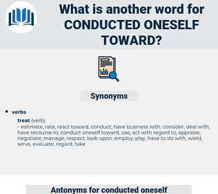 conducted oneself toward, synonym conducted oneself toward, another word for conducted oneself toward, words like conducted oneself toward, thesaurus conducted oneself toward