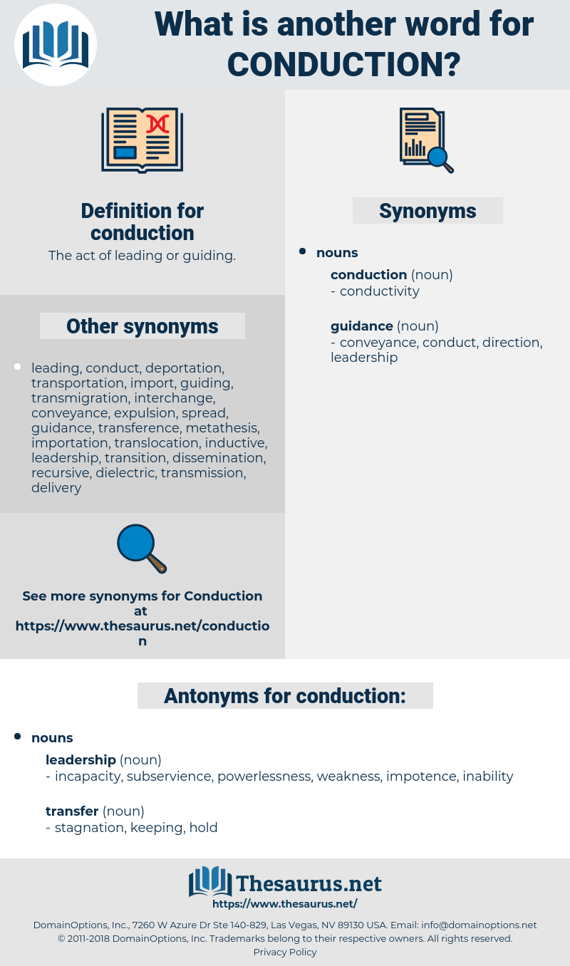 conduction, synonym conduction, another word for conduction, words like conduction, thesaurus conduction