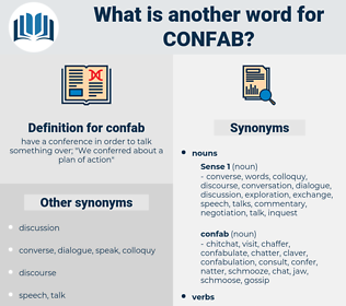 confab, synonym confab, another word for confab, words like confab, thesaurus confab