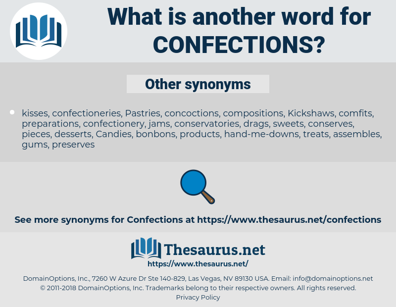 Confections, synonym Confections, another word for Confections, words like Confections, thesaurus Confections