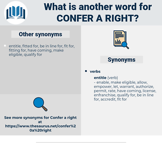 confer a right, synonym confer a right, another word for confer a right, words like confer a right, thesaurus confer a right