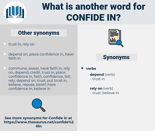 confide in, synonym confide in, another word for confide in, words like confide in, thesaurus confide in