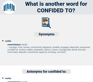 confided to, synonym confided to, another word for confided to, words like confided to, thesaurus confided to