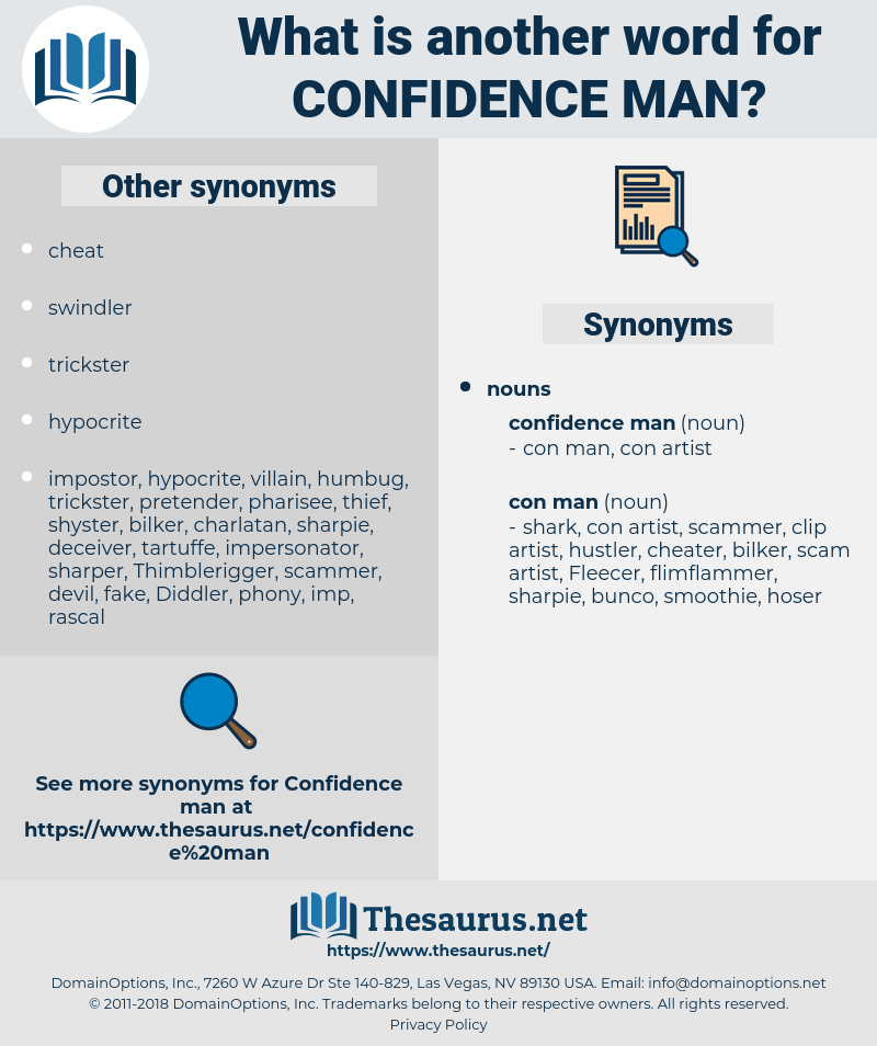 confidence man, synonym confidence man, another word for confidence man, words like confidence man, thesaurus confidence man