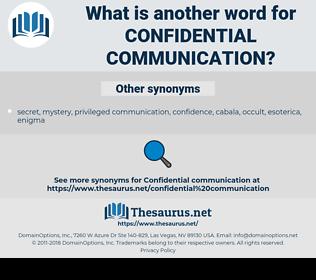 confidential communication, synonym confidential communication, another word for confidential communication, words like confidential communication, thesaurus confidential communication