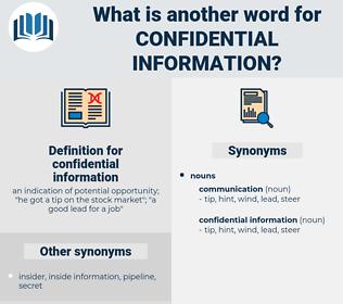 confidential information, synonym confidential information, another word for confidential information, words like confidential information, thesaurus confidential information