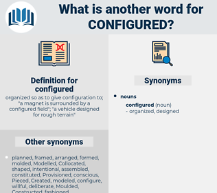 configured, synonym configured, another word for configured, words like configured, thesaurus configured