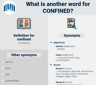 confined, synonym confined, another word for confined, words like confined, thesaurus confined