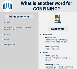 confining, synonym confining, another word for confining, words like confining, thesaurus confining