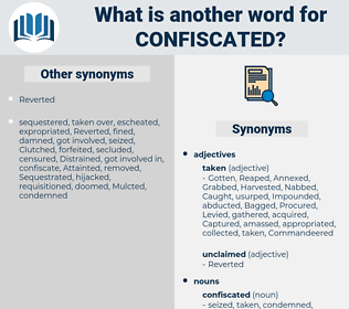 confiscated, synonym confiscated, another word for confiscated, words like confiscated, thesaurus confiscated