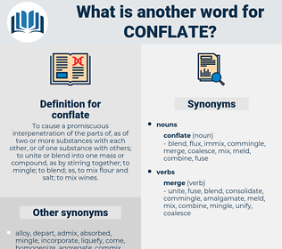 conflate, synonym conflate, another word for conflate, words like conflate, thesaurus conflate