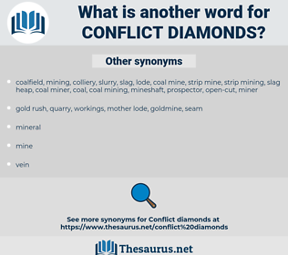 conflict diamonds, synonym conflict diamonds, another word for conflict diamonds, words like conflict diamonds, thesaurus conflict diamonds