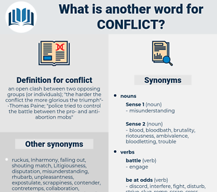 conflict, synonym conflict, another word for conflict, words like conflict, thesaurus conflict
