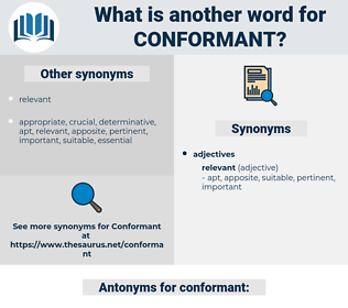 conformant, synonym conformant, another word for conformant, words like conformant, thesaurus conformant