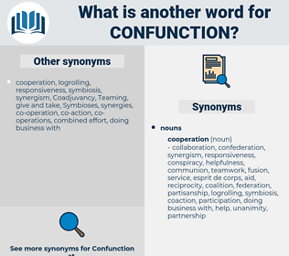 confunction, synonym confunction, another word for confunction, words like confunction, thesaurus confunction