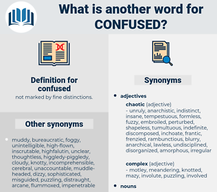 confused, synonym confused, another word for confused, words like confused, thesaurus confused