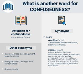 confusedness, synonym confusedness, another word for confusedness, words like confusedness, thesaurus confusedness