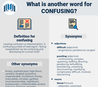 confusing, synonym confusing, another word for confusing, words like confusing, thesaurus confusing