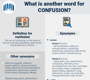 confusion, synonym confusion, another word for confusion, words like confusion, thesaurus confusion