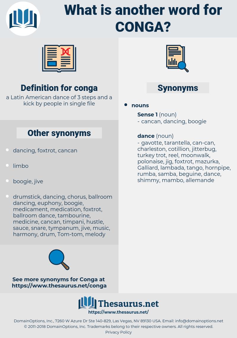 conga, synonym conga, another word for conga, words like conga, thesaurus conga
