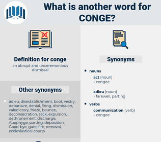 conge, synonym conge, another word for conge, words like conge, thesaurus conge