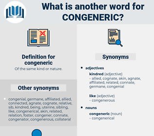 congeneric, synonym congeneric, another word for congeneric, words like congeneric, thesaurus congeneric