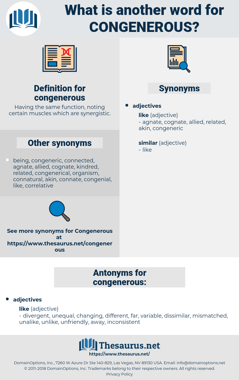congenerous, synonym congenerous, another word for congenerous, words like congenerous, thesaurus congenerous