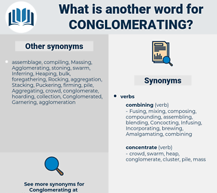 Conglomerating, synonym Conglomerating, another word for Conglomerating, words like Conglomerating, thesaurus Conglomerating