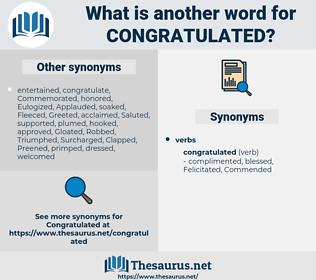 Congratulated, synonym Congratulated, another word for Congratulated, words like Congratulated, thesaurus Congratulated