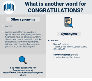 congratulations, synonym congratulations, another word for congratulations, words like congratulations, thesaurus congratulations