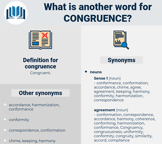 congruence, synonym congruence, another word for congruence, words like congruence, thesaurus congruence