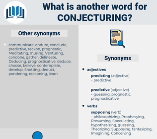 Conjecturing, synonym Conjecturing, another word for Conjecturing, words like Conjecturing, thesaurus Conjecturing