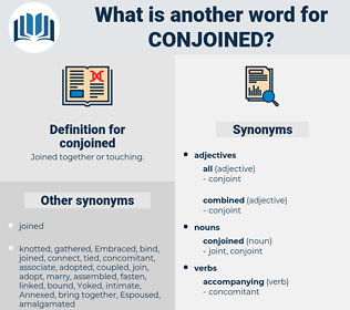conjoined, synonym conjoined, another word for conjoined, words like conjoined, thesaurus conjoined