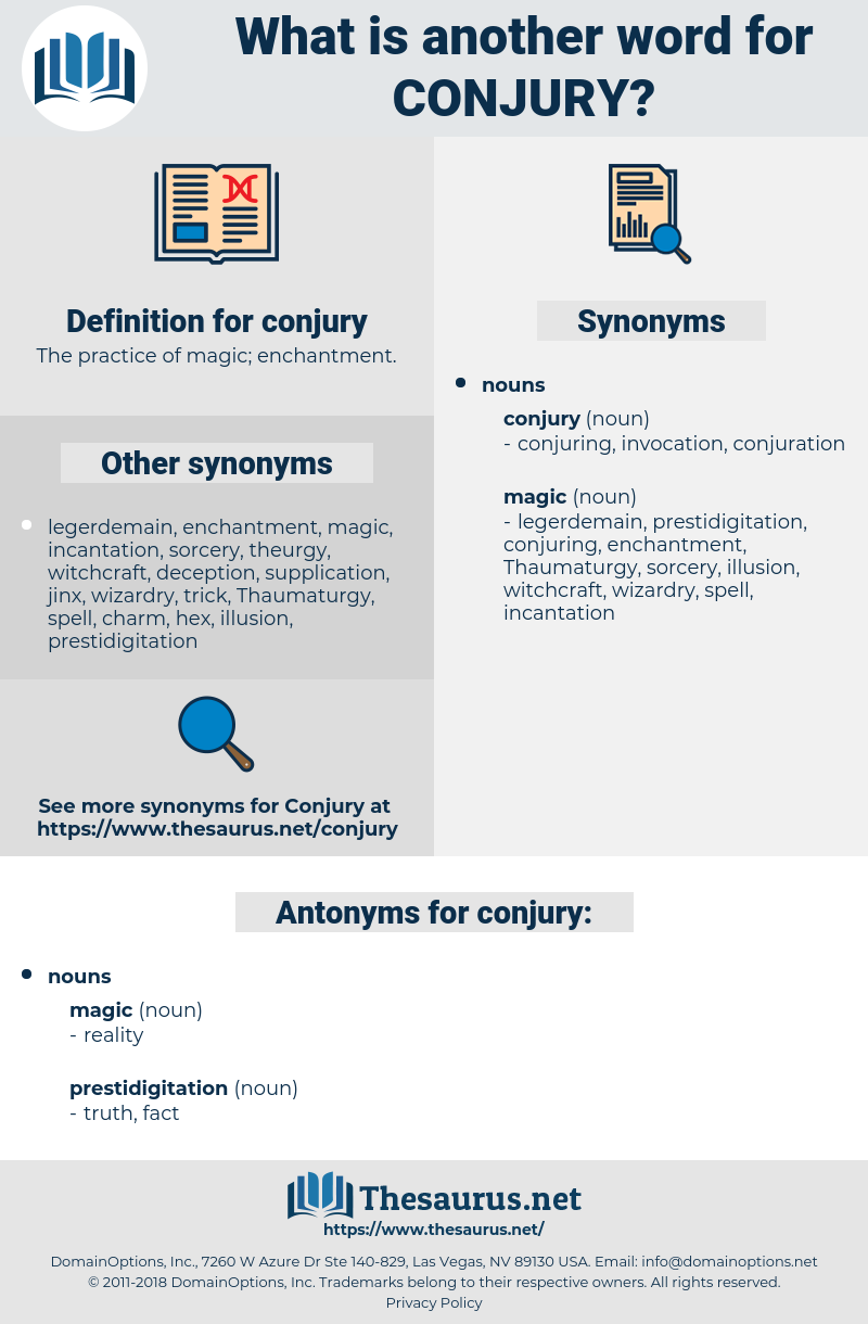 conjury, synonym conjury, another word for conjury, words like conjury, thesaurus conjury
