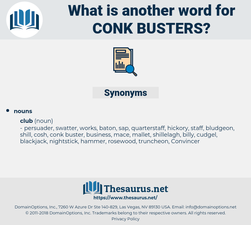 conk busters, synonym conk busters, another word for conk busters, words like conk busters, thesaurus conk busters
