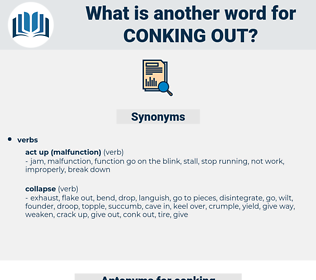 conking out, synonym conking out, another word for conking out, words like conking out, thesaurus conking out
