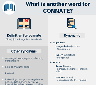 connate, synonym connate, another word for connate, words like connate, thesaurus connate