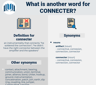 connecter, synonym connecter, another word for connecter, words like connecter, thesaurus connecter