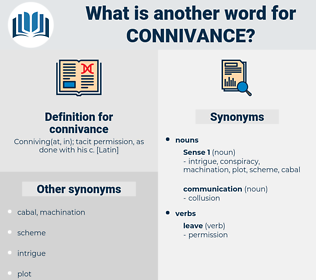 connivance, synonym connivance, another word for connivance, words like connivance, thesaurus connivance