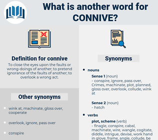 connive, synonym connive, another word for connive, words like connive, thesaurus connive