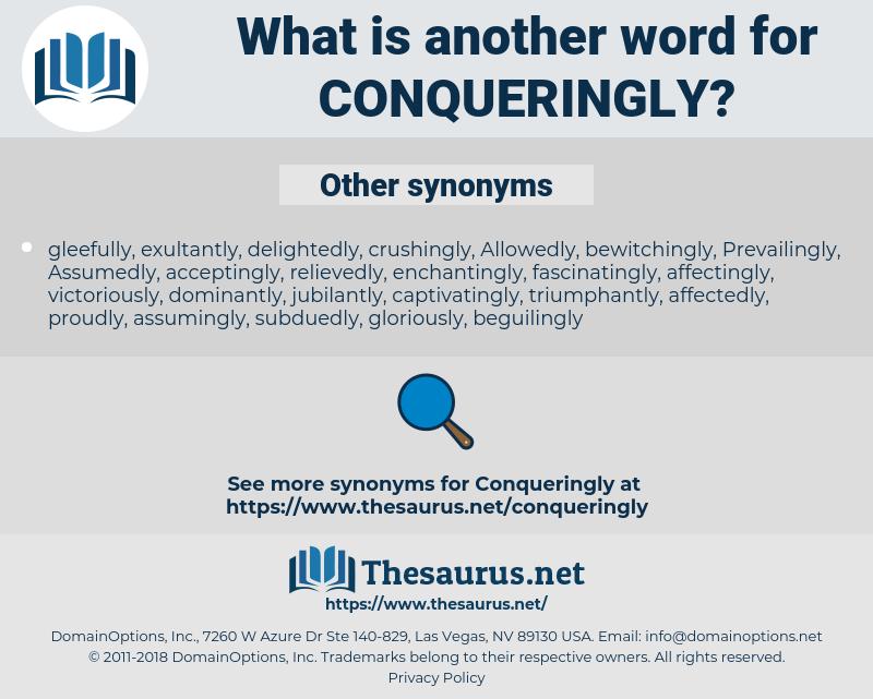 Conqueringly, synonym Conqueringly, another word for Conqueringly, words like Conqueringly, thesaurus Conqueringly