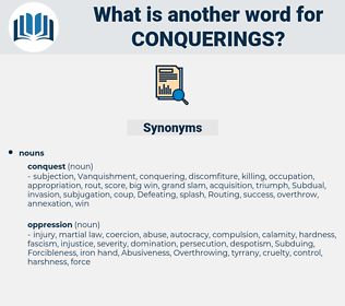conquerings, synonym conquerings, another word for conquerings, words like conquerings, thesaurus conquerings