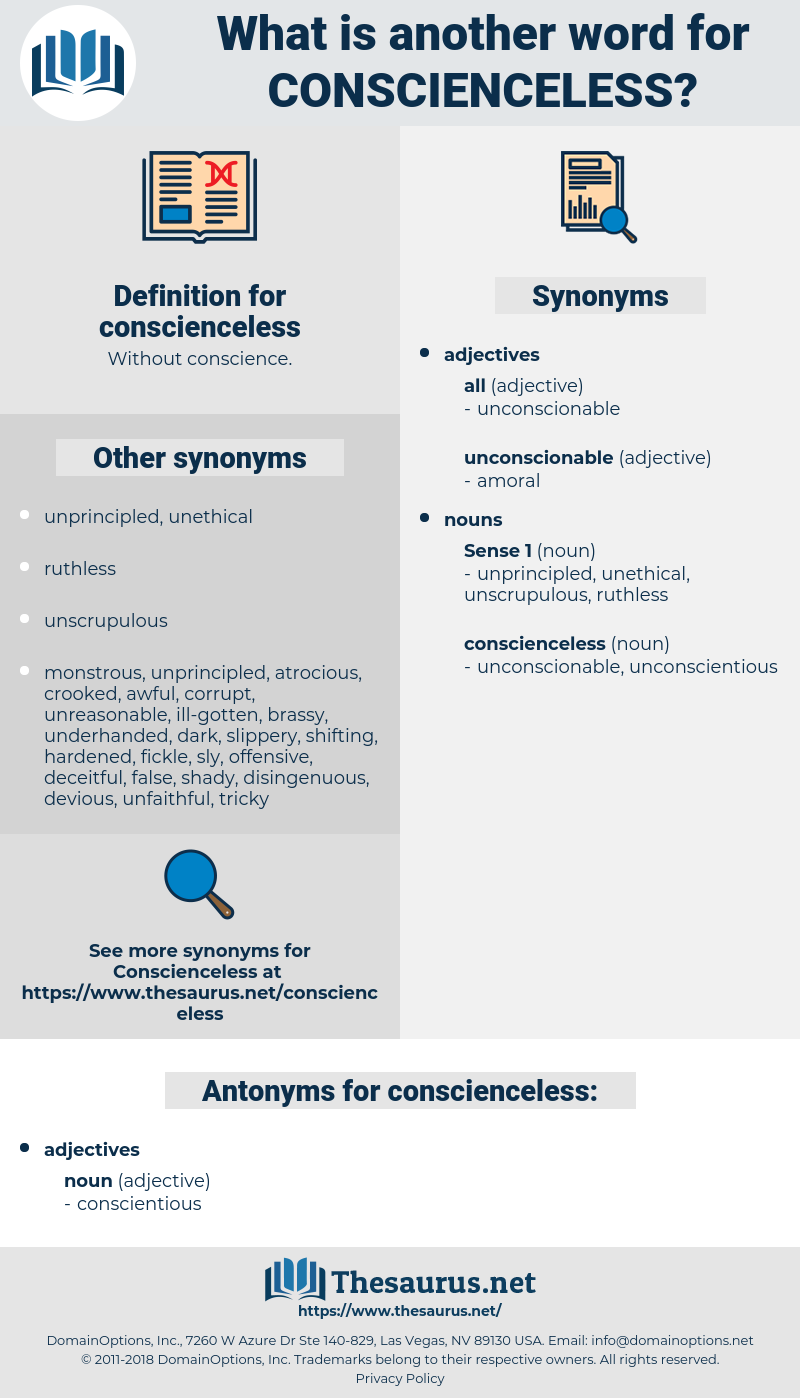 conscienceless, synonym conscienceless, another word for conscienceless, words like conscienceless, thesaurus conscienceless